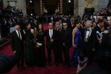 Adam Clayton Photo - Band Member the Edge (l-r) Morleigh Steinberg Ali Hewson U2 Band Member Bono U2 Band Member Larry Mullen Jr Mariana Teixeira and U2 Band Member Adam Clayton Attend the 86th Academy Awards Aka Oscars at Dolby Theatre in Los Angeles USA on 02 March 2014 Photo Alec Michael Photo by Alec Michael-Globe Photos Inc