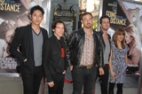 Airborne Toxic Event Photo - The Airborne Toxic Event During the Premiere of the New Movie From Warner Bros Pictures Going the Distance Held at Graumans Chinese Theatre on August 23 2010 in Los Angeles Photo Michael Germana  Superstar Images - Globe Photos