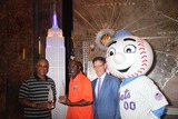 Ozzie Smith Photo - Mookie Wilsonmr Metozzie Smith Tim Brosnan Excutive Vice President of Business Mlb at Empire State Building to Ceremony the Officially Light the Towers Lights Blue and Orange to Commemorate the Start of Mlb All-star and 86th Floor Observatory 7-12-2013 John BarrettGlobe Photos