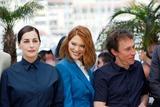 Amira Casar Photo - Amira Casar Lea Seydoux and Bertrand Bonello Saint-laurent Photo Call Cannes Film Festival 2014 Cannes France May 17 2014 Roger Harvey