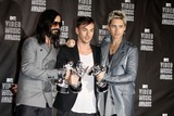 Jared Leto Photo - Musicians Tomo Milicevic  Shannon and Jared Leto of 30 Seconds to Mars the 2010 Mtv Video Music Awards (Pressroom) Held at the Nokia Theatre Los Angeles California 09-12-2010 Photo by Alec Michael-Globe Photos Inc 2010