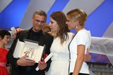 Abdellatif Kechiche Photo - Palme Dor Winning Director Abdellatif Kechiche Lea Seydoux (R) Adele Exarchopoulos Celebrate at the Closing Ceremony During the 66th Cannes International Film Festival at Palais Des Festivals in Cannes France on 26 May 2013 Photo Alec Michael Photo by Alec Michael - Globe Photos Inc