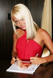 Playboy Magazine Photo - Playboy Magazines Playmate of the Year 2007 Signs Autographs at the Hawaiin Tropic Zone Restaurant Times Square-new York City Hawaiin Tropic Zone-nyc-62507 Sara Jean Underwood Photo by John B Zissel-ipol-Globe Photos Inc 2007