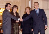 Ana Botella Photo - 000658 03232004 the Spanish President Jose Maria Aznar and His Wife Ana Botella Meets Tony and Cherie Blair For Dinner at Moncloa Palace -Madrid Spain Alfaquiglobelinkukcom