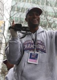Amani Toomer Photo - Ticker Tape Parade For NY Giants Super Bowl Champions Date 02-05-08 Photos by John Barrett-Globe Photosinc Amani Toomer