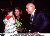 King Queen Photo - King Hussein and Queen Noor of Jordan -attends the 1996 Stockton Lectures -at the London Business School -in London -290296