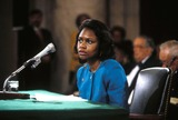 Anita Hill Photo - Anita Hill Testifying Before the Senate Judiciary Commitie Photo by James ColburnipolGlobe Photosinc