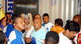 Xuxa Photo - Rio DE Janeiro Brasil Brazilian Tv Presenter Xuxa Arriving to Rio de Janeiro Carnival Parade 02232004 Photo Robson Moreiracity FilesGlobe Photosinc