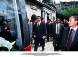As Yet Photo - IMAPRESS PH  CLEMOT  BENITOFUNERAL OF PRINCESS LEILA PAHLAVI IN PARIS 16TH JUNE 2001 IN TOTAL BEREAVEMENT THE EX-EMPRESS OF IRAN FARAH PAHLAVI BURIED HER DAUGHTER IN THE PASSY CEMETERY IN PARIS LEILA PAHLAVI 31 PASSED AWAY A WEEK AGO IN LONDON THE OFFICIAL COMMUNIQUE WRITTEN BY HER MOTHER INDICATED THAT SHE PASSED AWAY IN HER SLEEP BUT THE EXACT CIRCUMSTANCES OF THE DEACEASED REMAIN AS YET UNKNOWNREZA II FOLLOWS THE HEARSE WITH IN THE BACKROUND PRINCE ALI REZA AND EMPRESS FARAHCREDIT IMAPRESSCLEMOTBENITOGLOBE PHOTOS INC