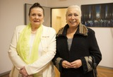 Alicia Alonso Photo - SEVILLE SPAIN November 4 Matilde CorRal and Cristina Hoyos (L-R) arrival at the presentation of the book -Alicia Alonso or eternity of Giselle- of the writer Giselle Mayda Bustamante in the theater La Maestranza in Seville Spain